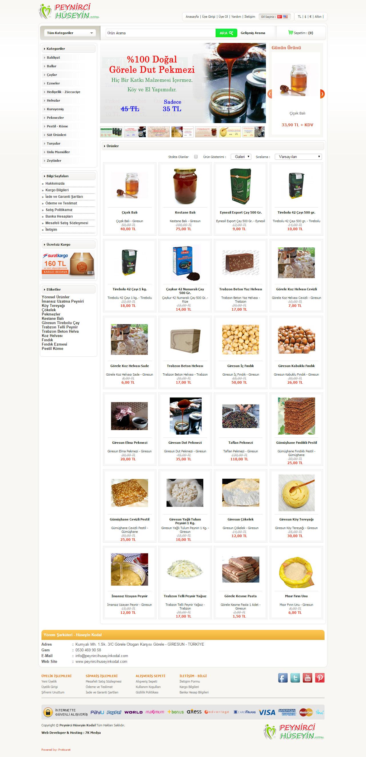 peynirci hüseyin kodal, peynirci hüseyin web sitesi